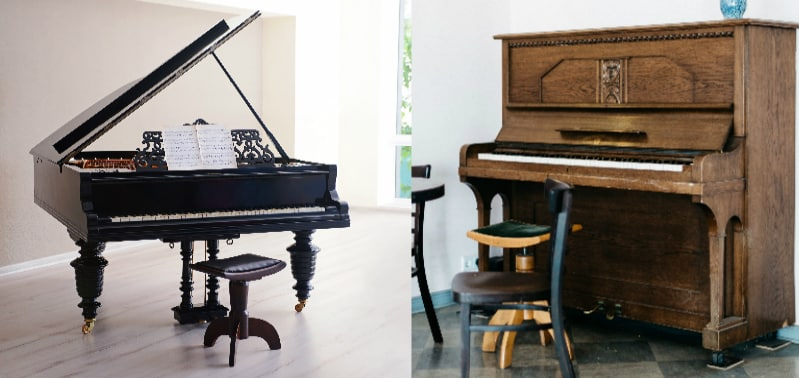 Grand Piano vs Upright Piano