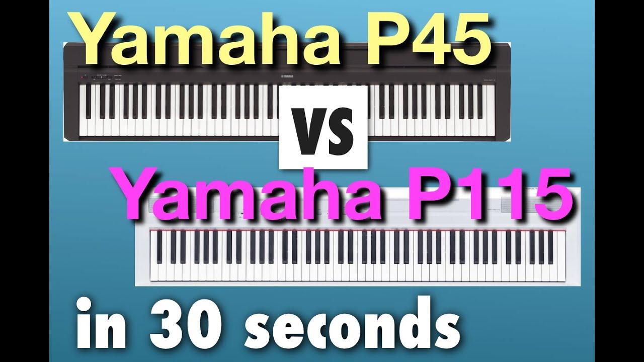 Yamaha P45 vs P115